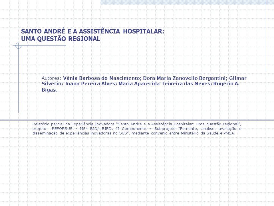 SANTO ANDRÉ E A ASSISTÊNCIA HOSPITALAR: UMA QUESTÃO REGIONAL