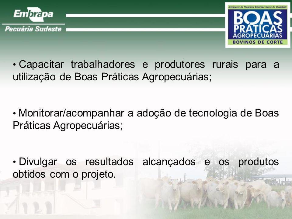 Capacitar trabalhadores e produtores rurais para a utilização de Boas Práticas Agropecuárias;