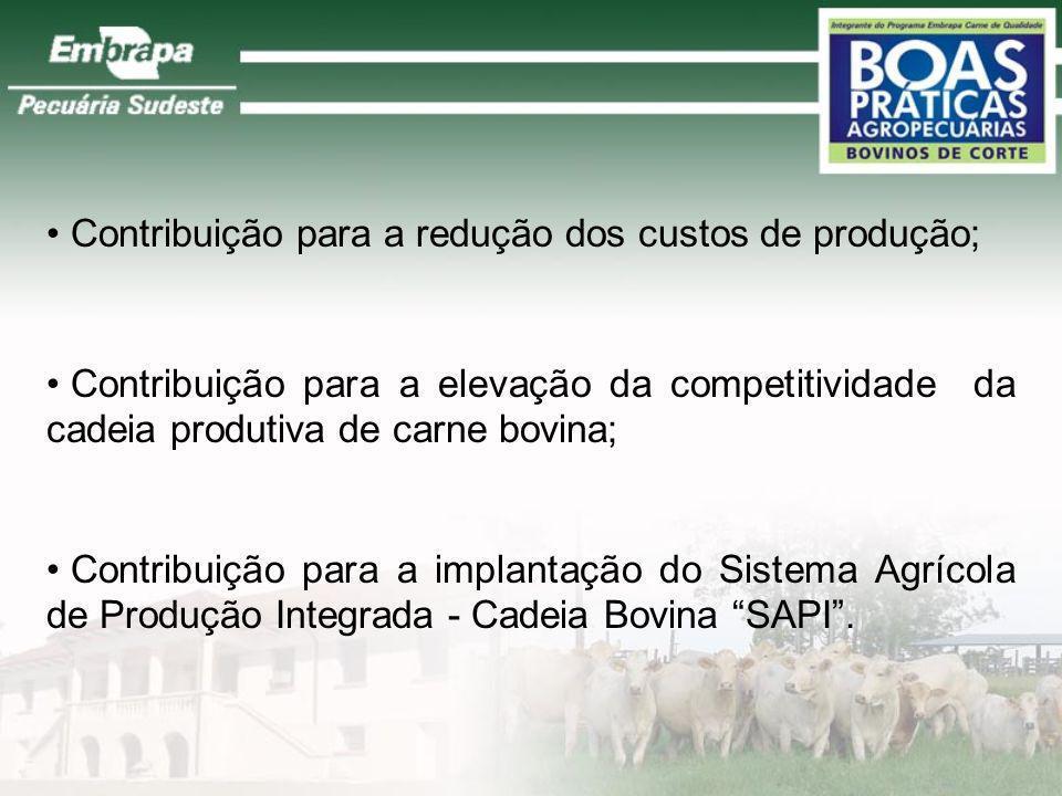 Contribuição para a redução dos custos de produção;