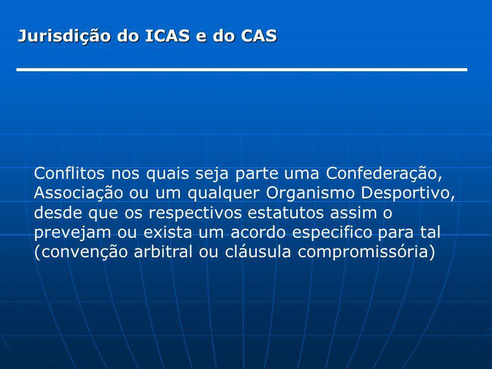 Jurisdição do ICAS e do CAS