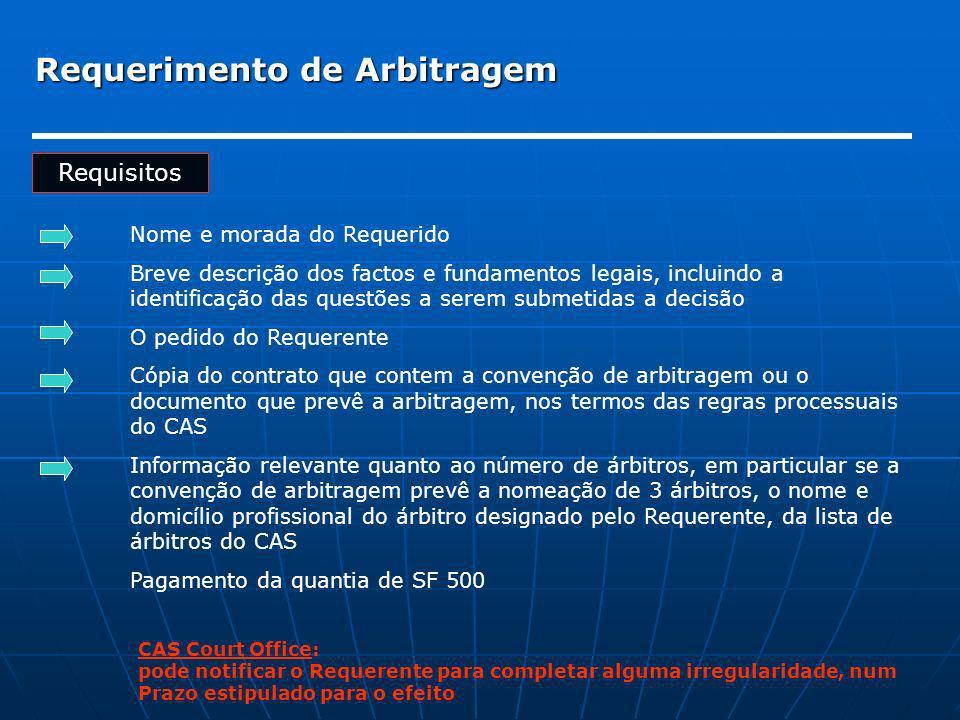 Requerimento de Arbitragem