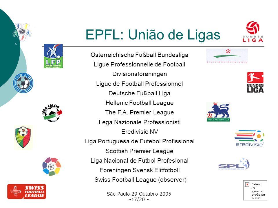 EPFL: União de Ligas Osterreichische Fußball Bundesliga