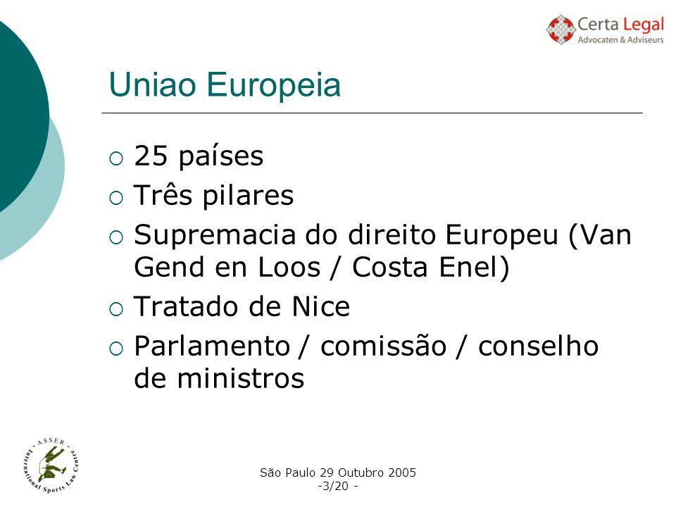Uniao Europeia 25 países Três pilares