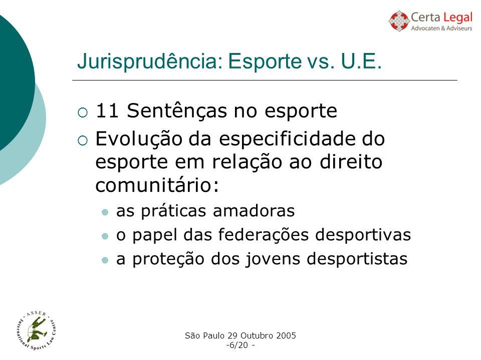 Jurisprudência: Esporte vs. U.E.