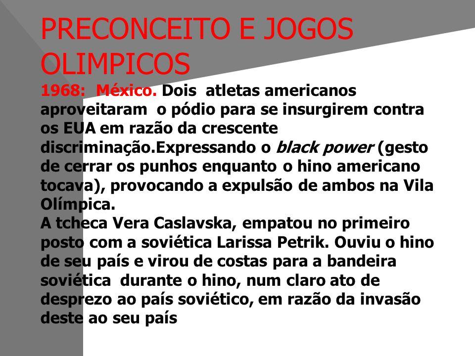 PRECONCEITO E JOGOS OLIMPICOS 1968: México