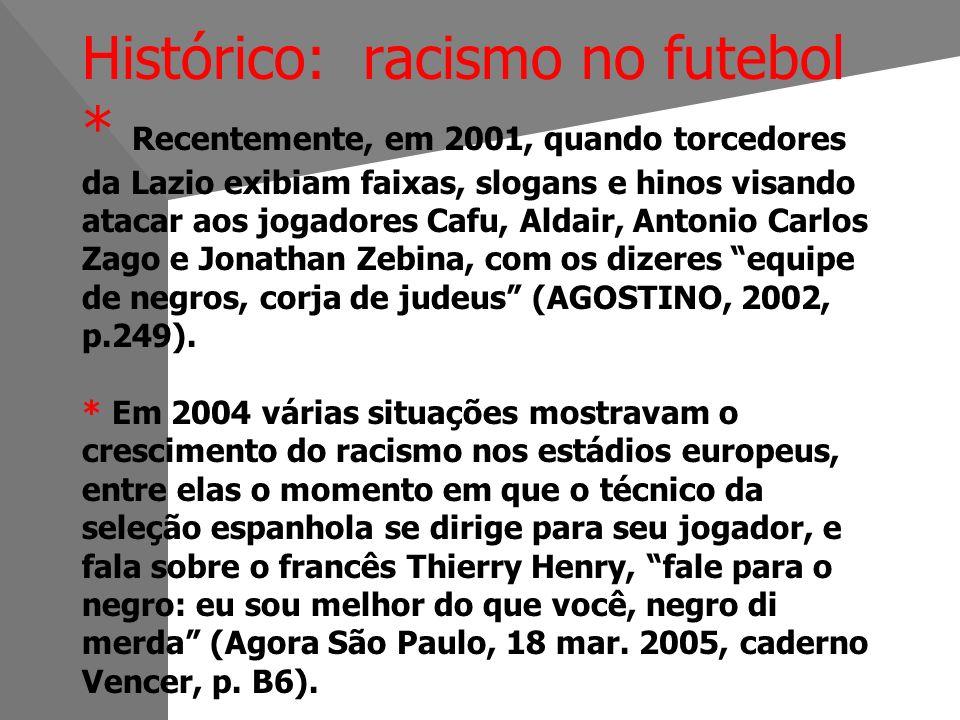 Histórico: racismo no futebol