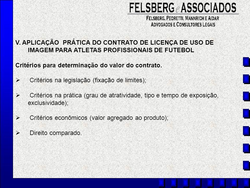 V. APLICAÇÃO PRÁTICA DO CONTRATO DE LICENÇA DE USO DE IMAGEM PARA ATLETAS PROFISSIONAIS DE FUTEBOL