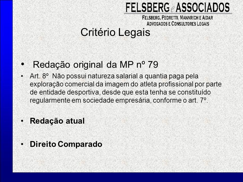 Redação original da MP nº 79