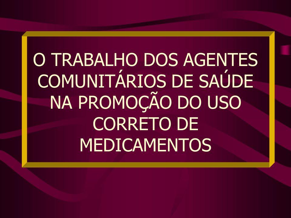 O TRABALHO DOS AGENTES COMUNITÁRIOS DE SAÚDE NA PROMOÇÃO DO USO CORRETO DE MEDICAMENTOS