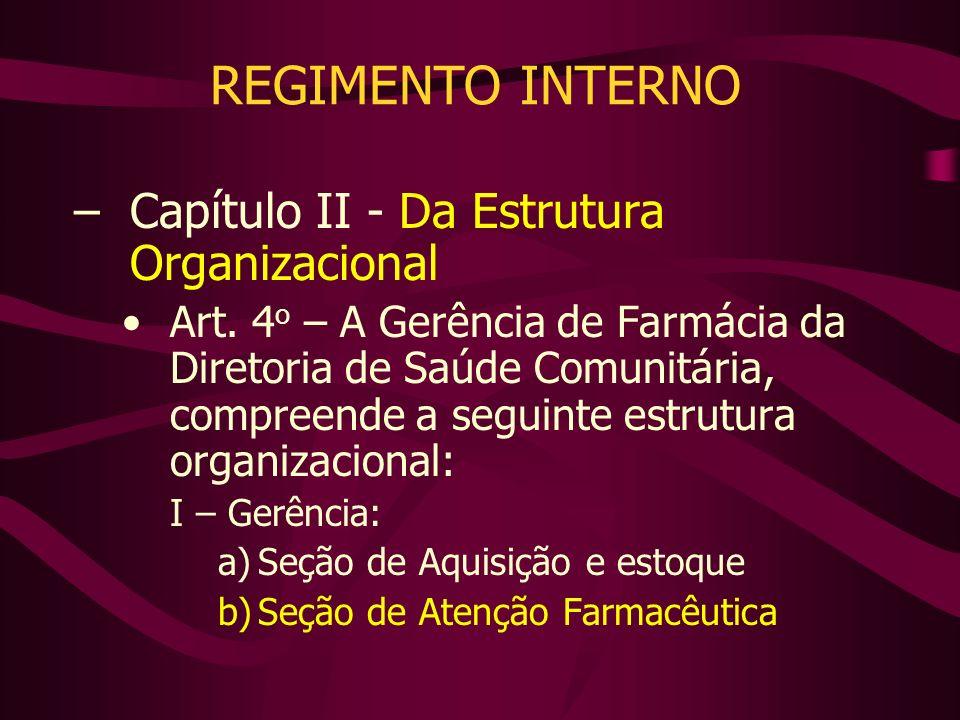 REGIMENTO INTERNO Capítulo II - Da Estrutura Organizacional