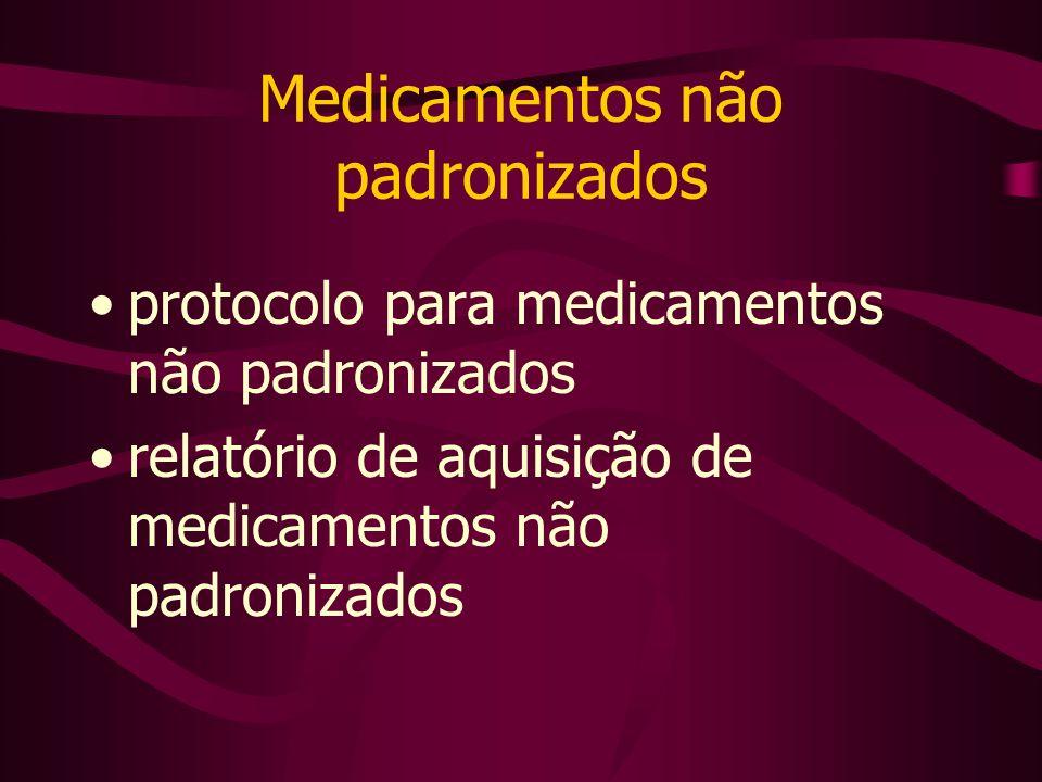 Medicamentos não padronizados