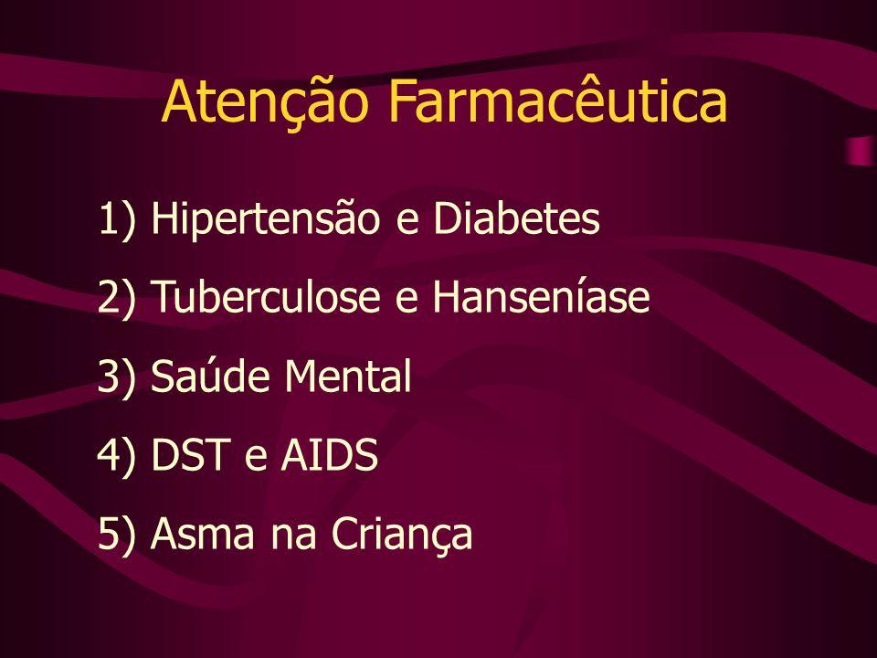 Atenção Farmacêutica 1) Hipertensão e Diabetes