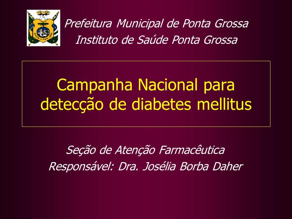 Campanha Nacional para detecção de diabetes mellitus