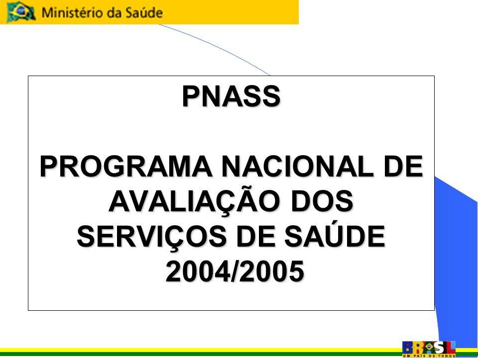 PNASS PROGRAMA NACIONAL DE AVALIAÇÃO DOS SERVIÇOS DE SAÚDE 2004/2005