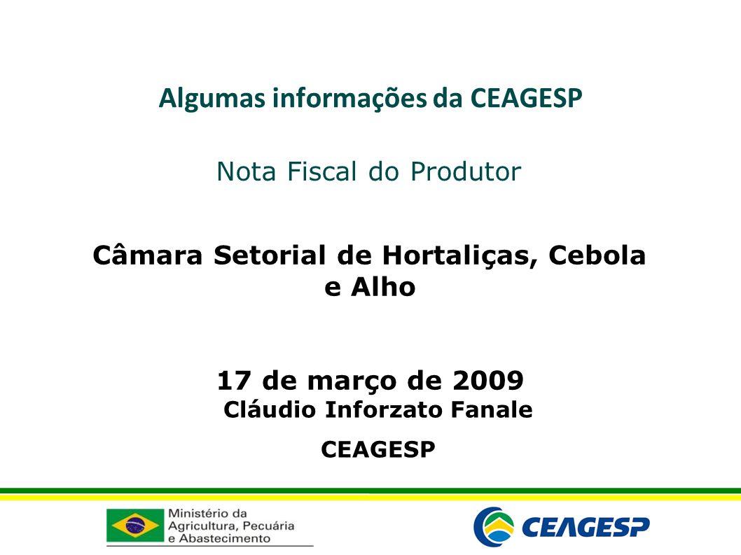 Algumas informações da CEAGESP