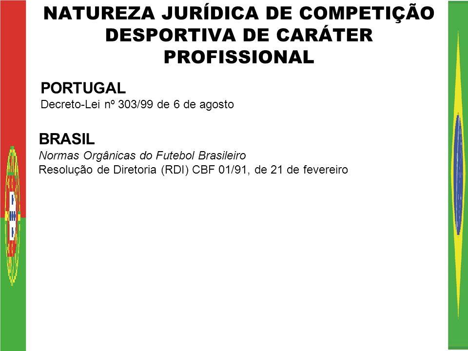 NATUREZA JURÍDICA DE COMPETIÇÃO DESPORTIVA DE CARÁTER PROFISSIONAL