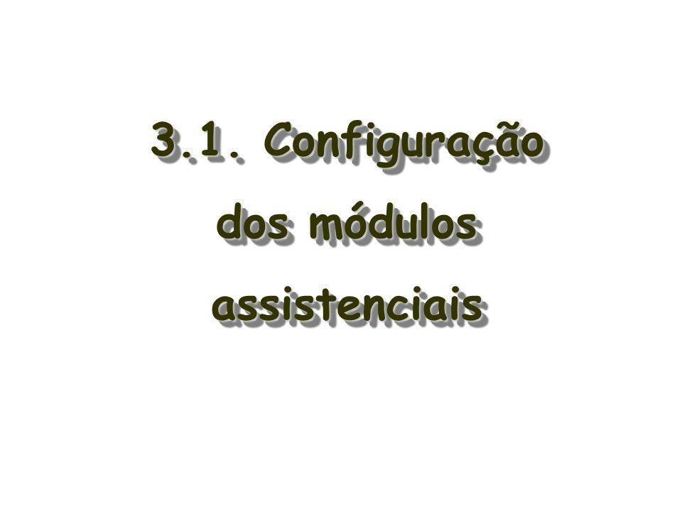 3.1. Configuração dos módulos assistenciais