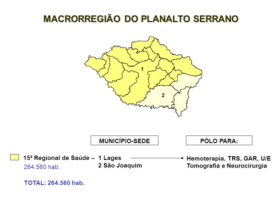 MACRORREGIÃO DO PLANALTO SERRANO