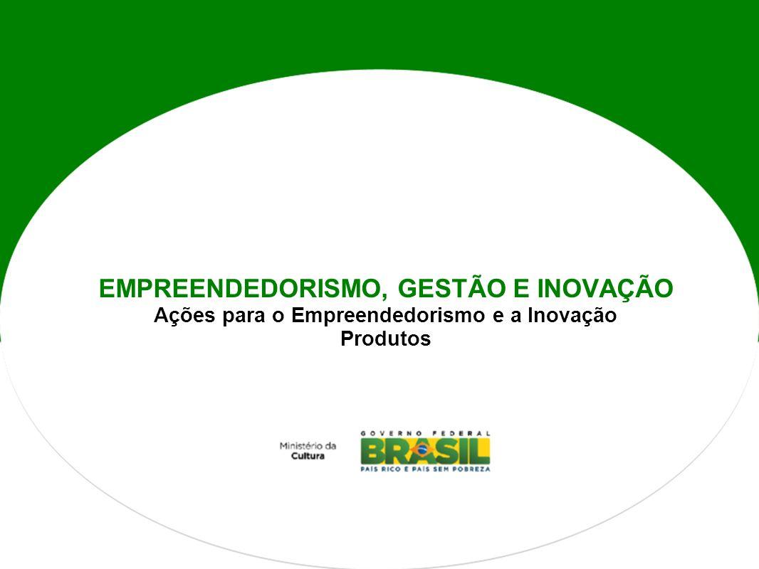EMPREENDEDORISMO, GESTÃO E INOVAÇÃO Ações para o Empreendedorismo e a Inovação Produtos
