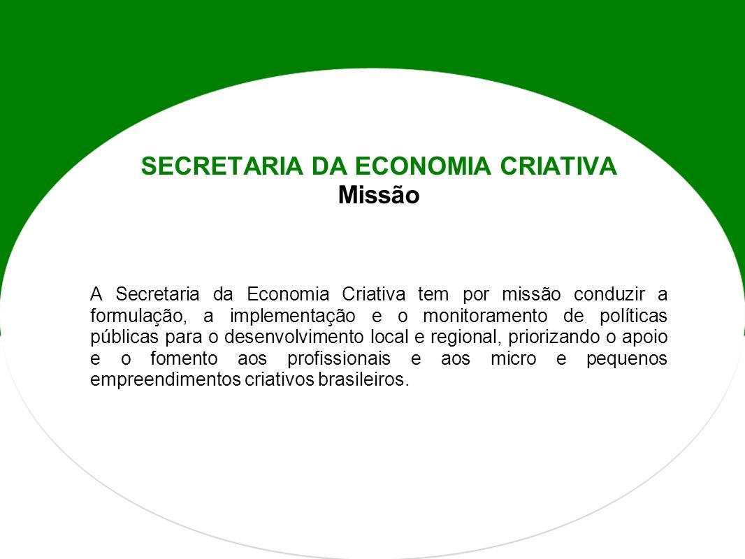 SECRETARIA DA ECONOMIA CRIATIVA Missão