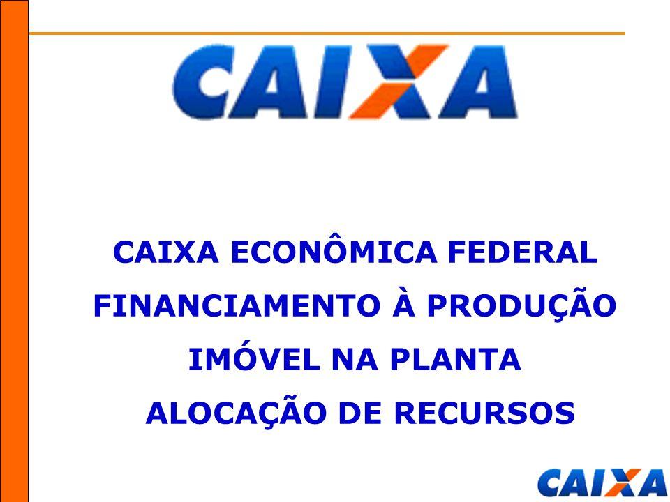CAIXA ECONÔMICA FEDERAL FINANCIAMENTO À PRODUÇÃO