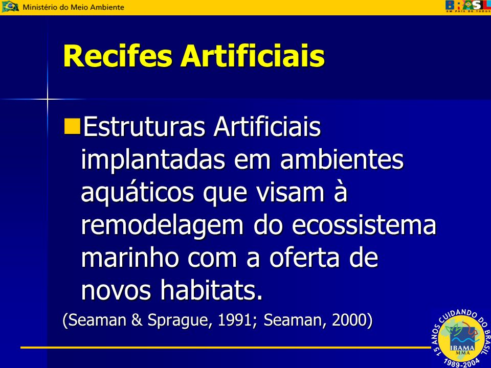 Recifes Artificiais