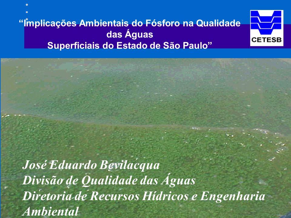 José Eduardo Bevilacqua Divisão de Qualidade das Águas