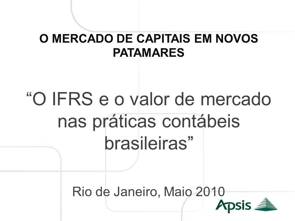 O MERCADO DE CAPITAIS EM NOVOS PATAMARES