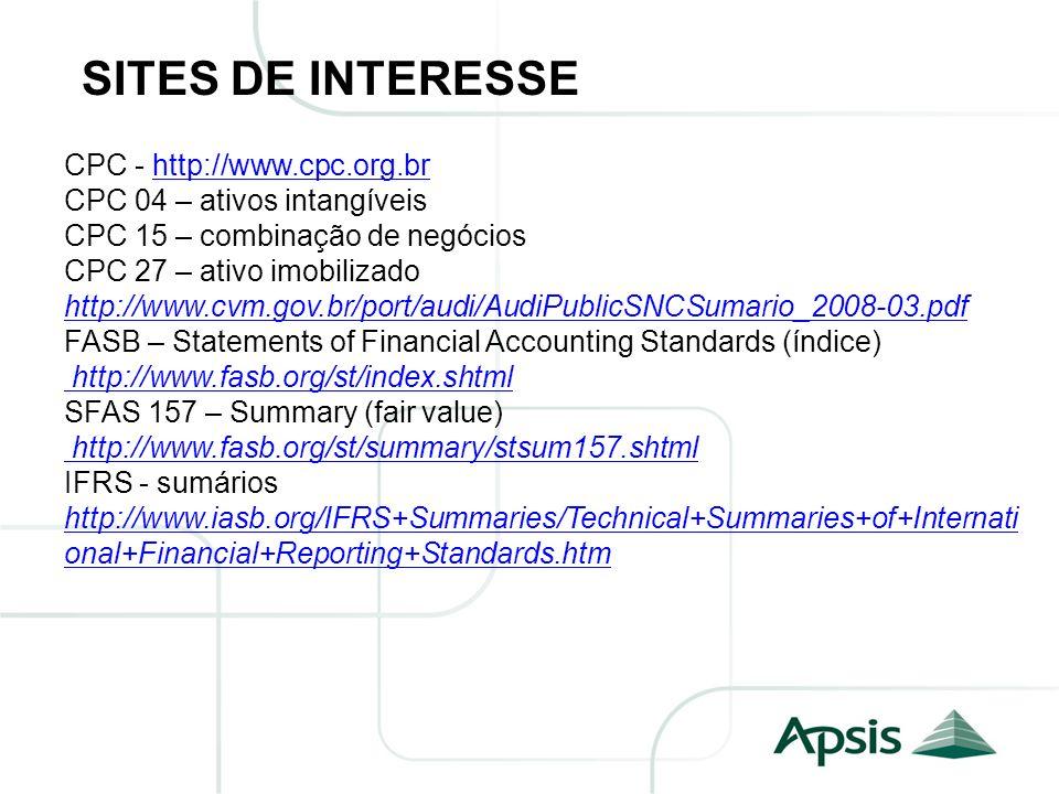 SITES DE INTERESSE CPC - http://www.cpc.org.br