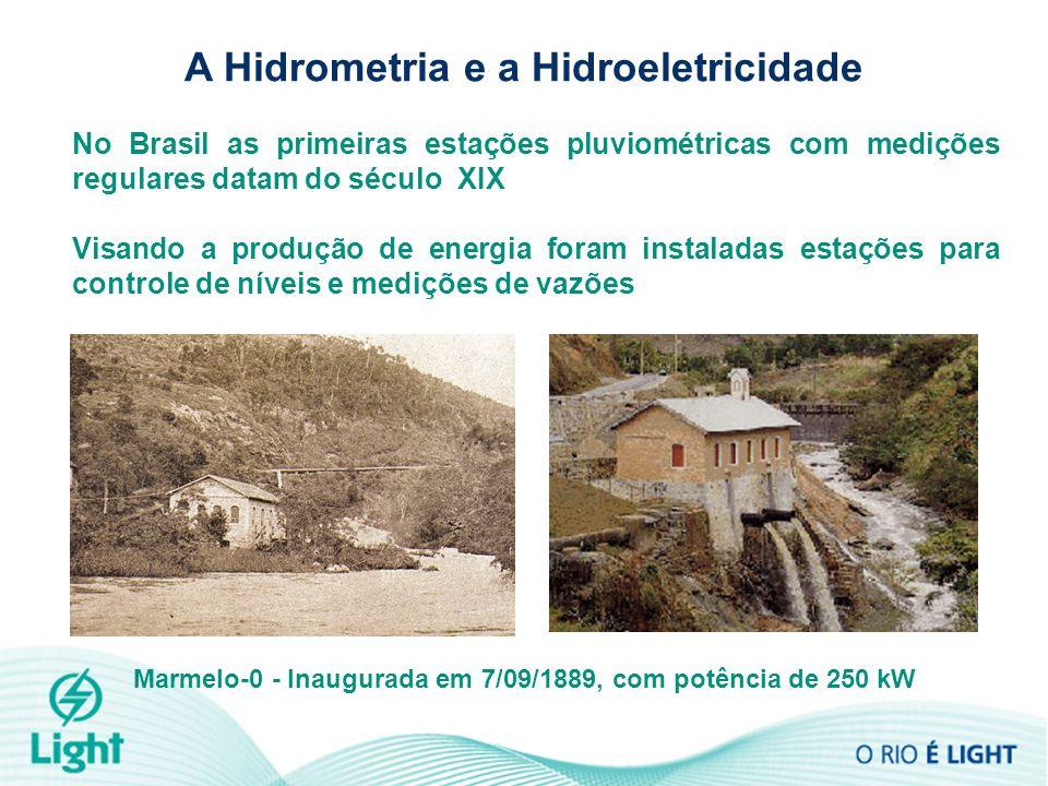 A Hidrometria e a Hidroeletricidade