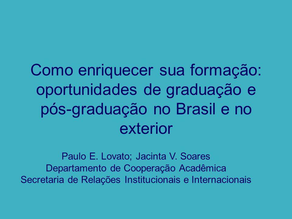 Como enriquecer sua formação: oportunidades de graduação e pós-graduação no Brasil e no exterior