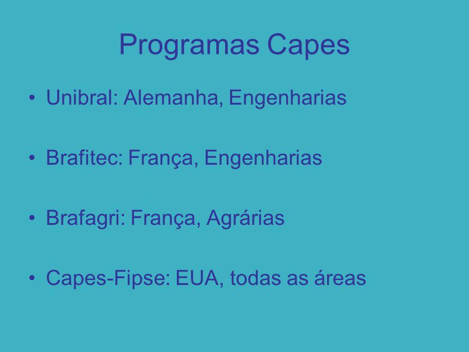 Programas Capes Unibral: Alemanha, Engenharias