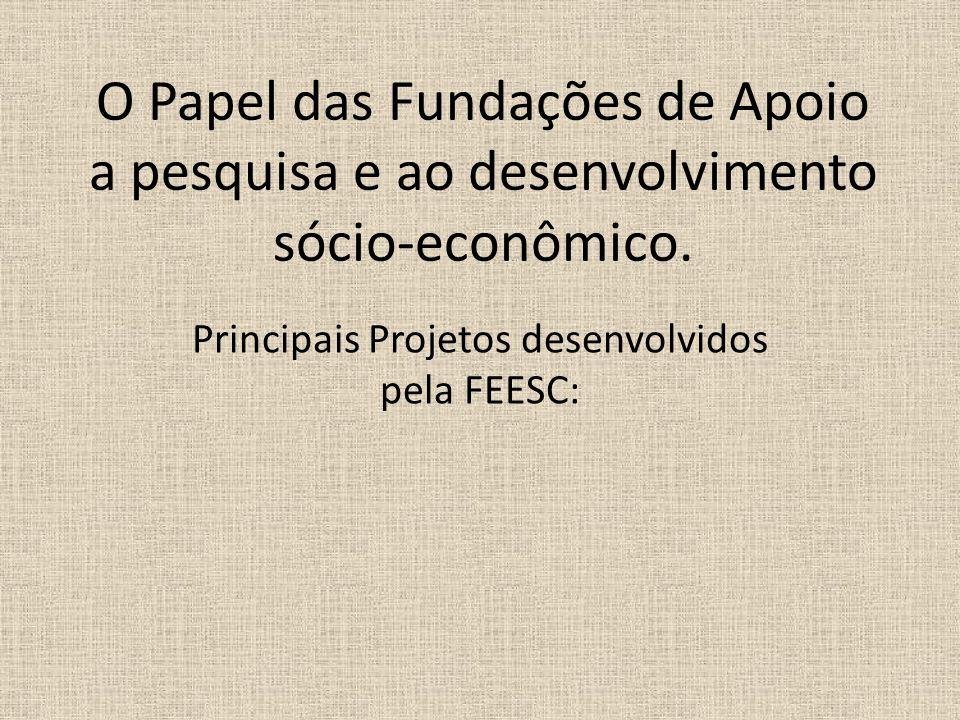 Principais Projetos desenvolvidos pela FEESC: