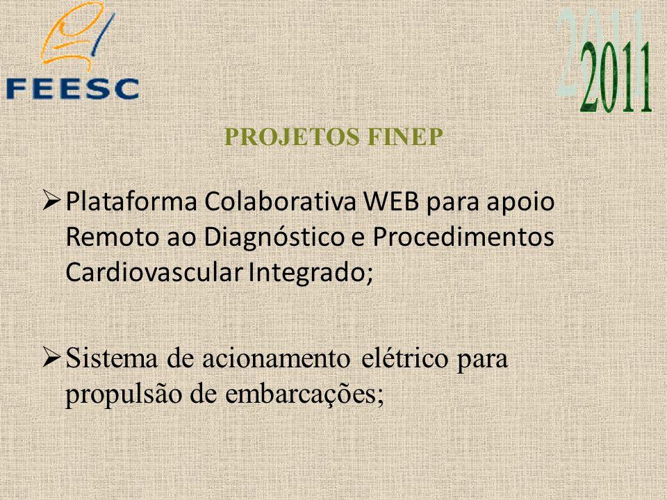 2011 PROJETOS FINEP. Plataforma Colaborativa WEB para apoio Remoto ao Diagnóstico e Procedimentos Cardiovascular Integrado;