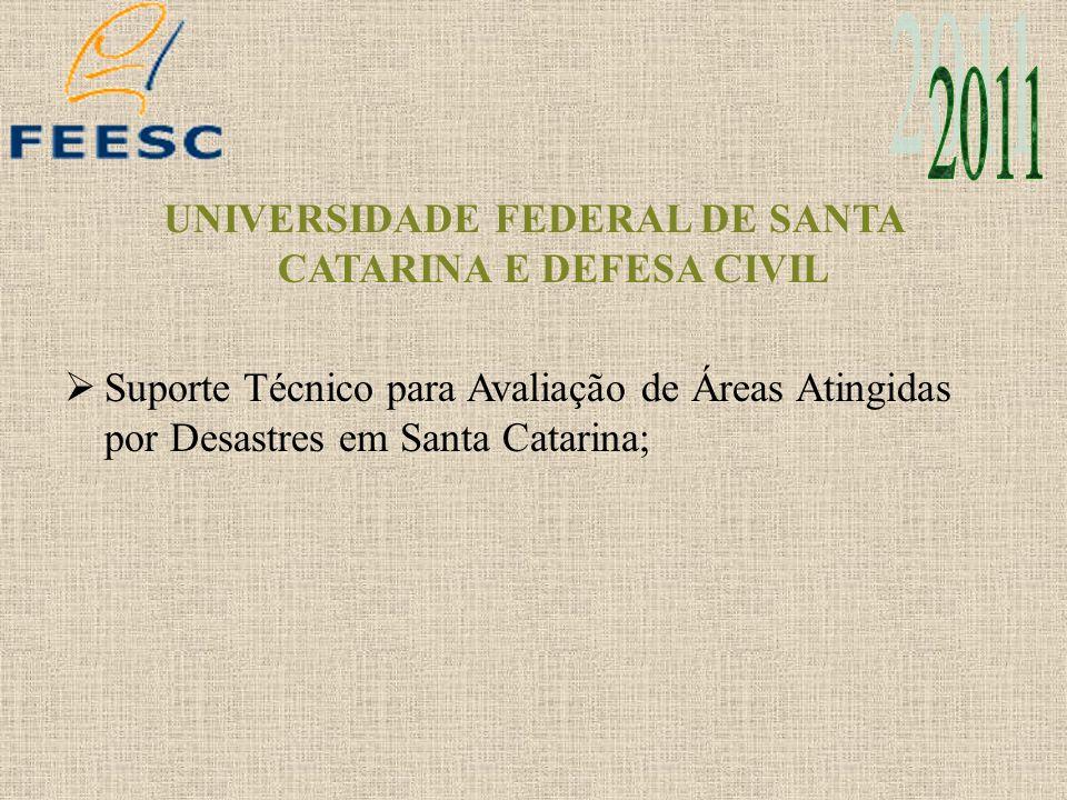UNIVERSIDADE FEDERAL DE SANTA CATARINA E DEFESA CIVIL