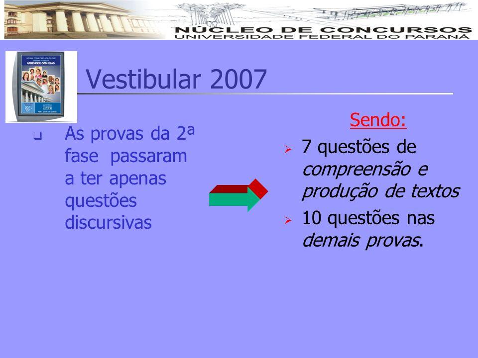 Vestibular 2007 Sendo: 7 questões de compreensão e produção de textos