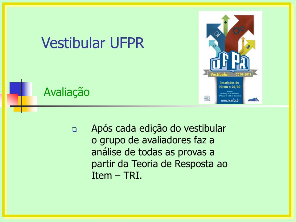 Vestibular UFPR Avaliação