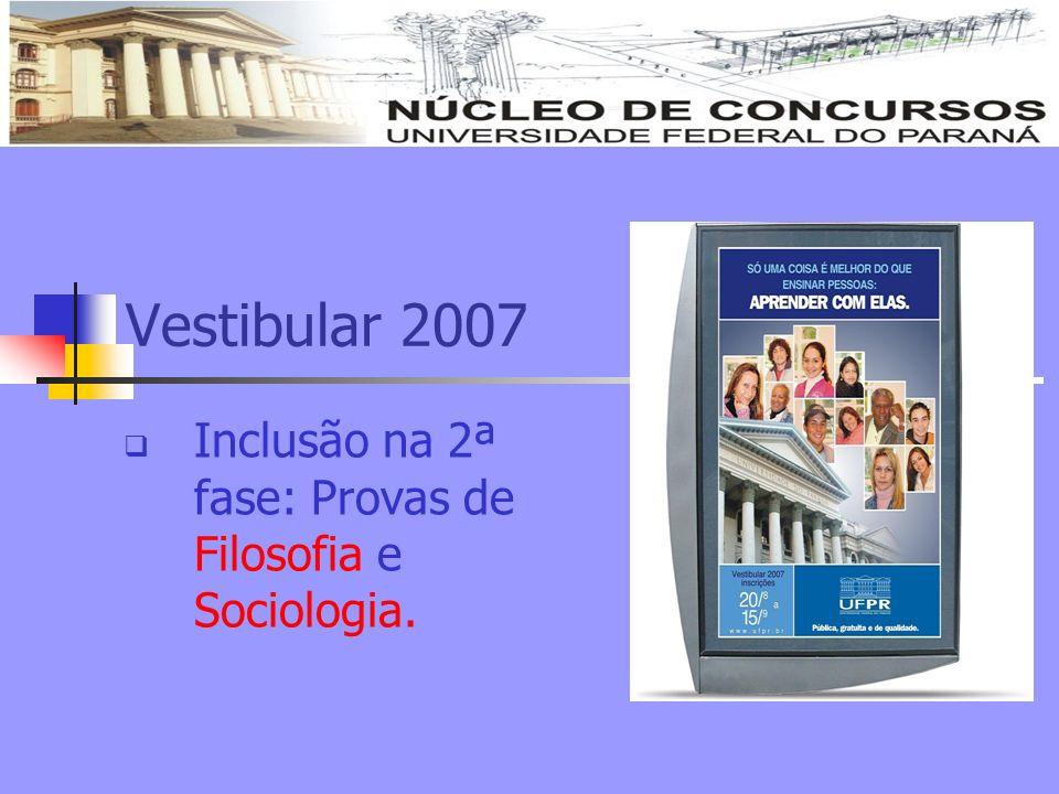 Inclusão na 2ª fase: Provas de Filosofia e Sociologia.
