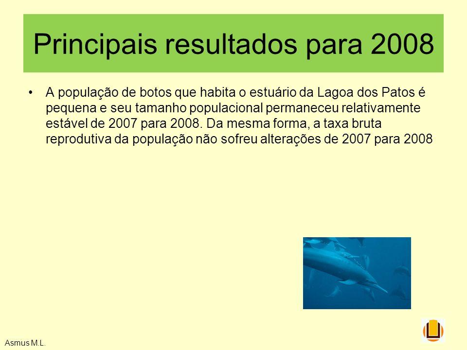 Principais resultados para 2008
