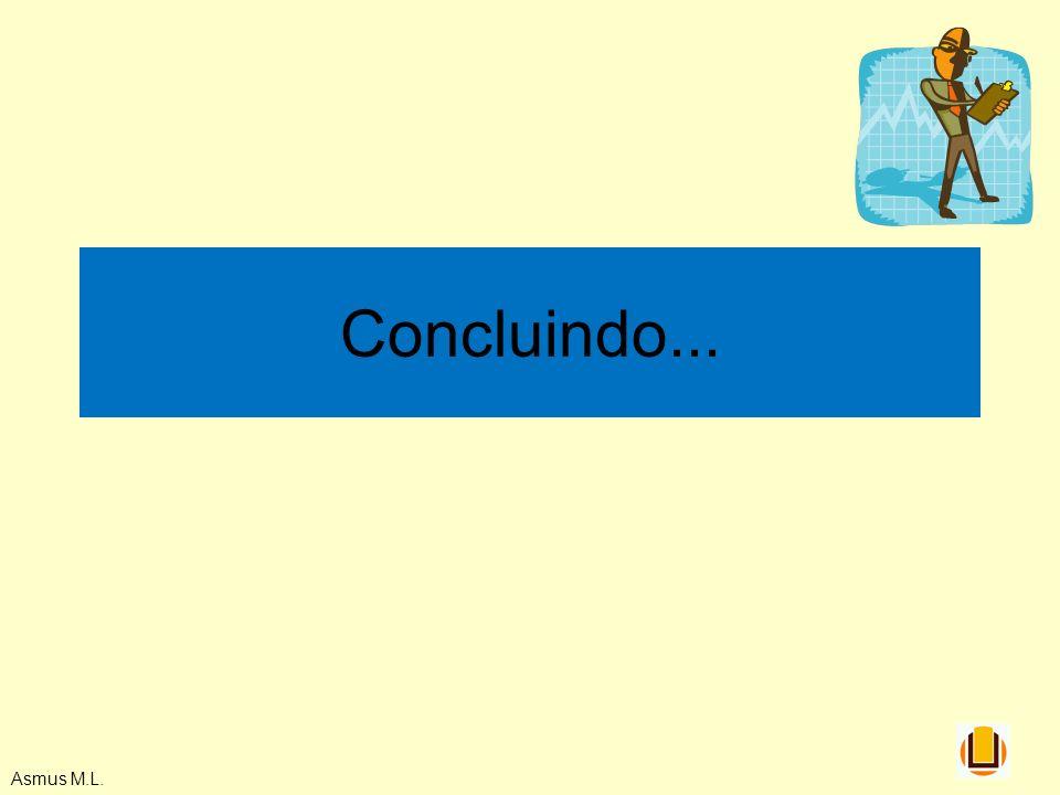 Concluindo... Asmus M.L.