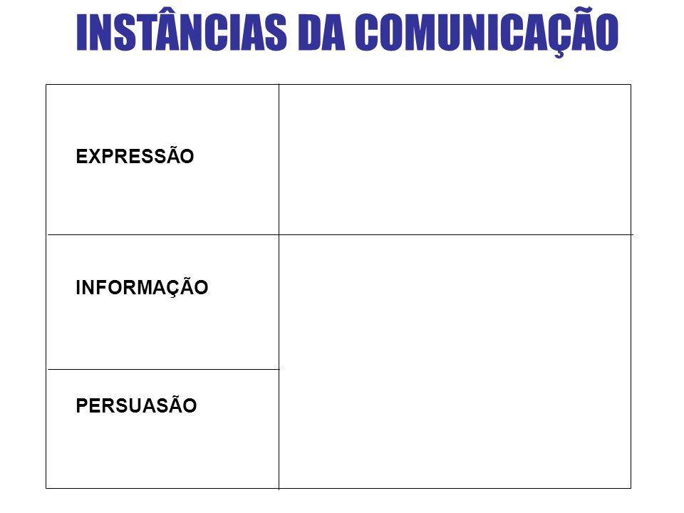 INSTÂNCIAS DA COMUNICAÇÃO