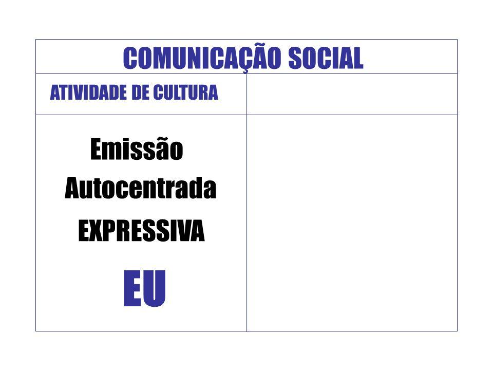 EU COMUNICAÇÃO SOCIAL Emissão Autocentrada EXPRESSIVA