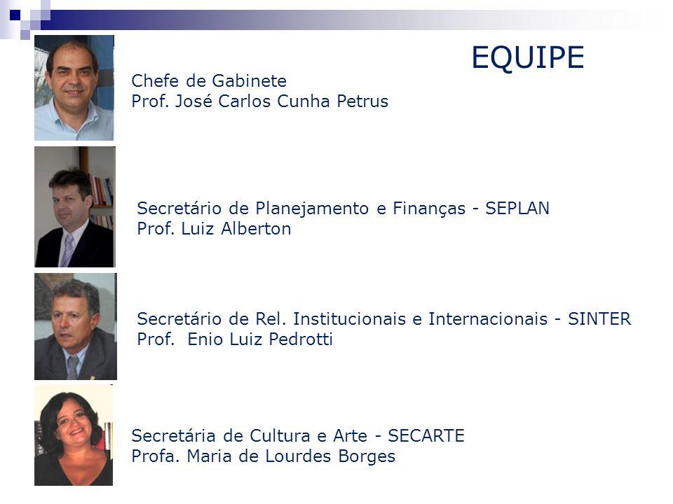 EQUIPE Chefe de Gabinete Prof. José Carlos Cunha Petrus