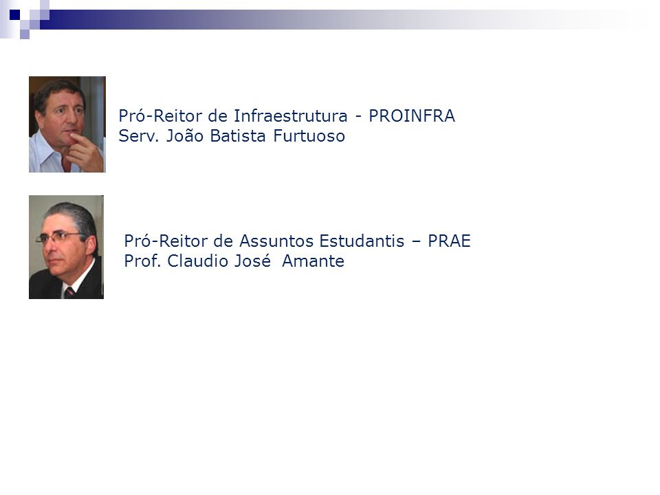 Pró-Reitor de Infraestrutura - PROINFRA