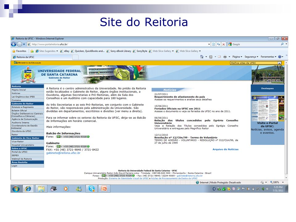 Site do Reitoria