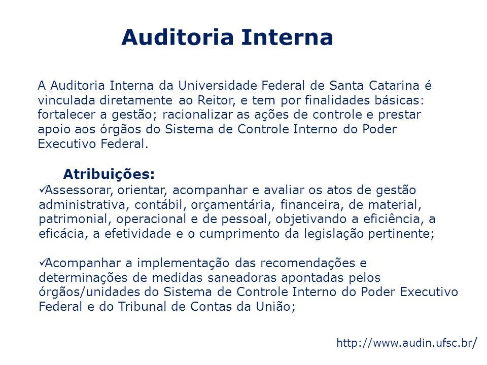 Auditoria Interna Atribuições: