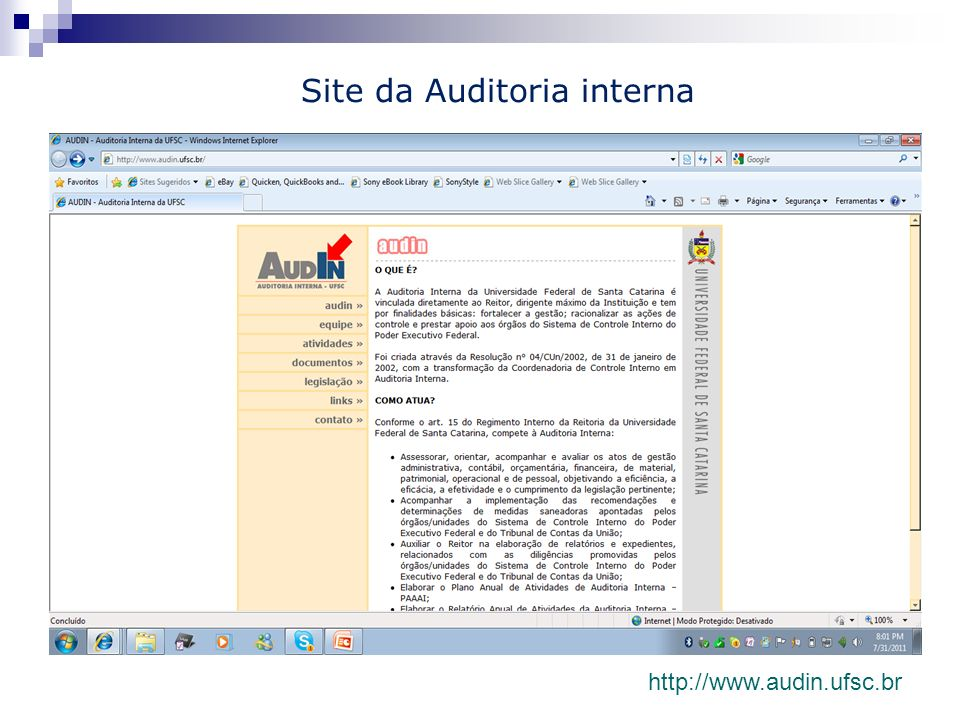 Site da Auditoria interna
