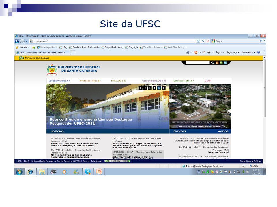 Site da UFSC