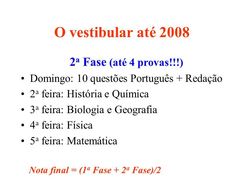 O vestibular até 2008 2a Fase (até 4 provas!!!)