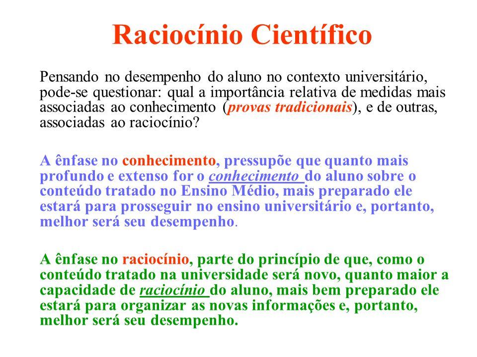 Raciocínio Científico